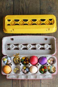 Egg Carton #Easter Basket (http://blog.hgtv.com/design/2014/04/11/make-an-egg-carton-easter-basket/?soc=pinterest)