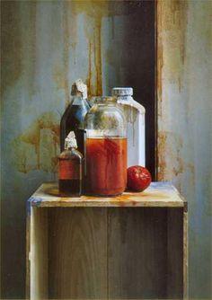 Istvan Sandorfi: nature morte jus tomate