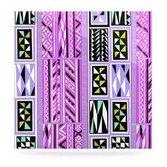 "KESS InHouse ""American Blanket Pattern II"" by Vikki Salmela Graphic Art Plaque Size:"