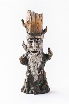 Tree Man Tower Incense Burner - Earthbound Trading Co. Salt Stone, Spa Items, Fantasy Gifts, Sea Witch, Polymer Clay Projects, Incense Burner, Natural Essential Oils, Home Gifts, Lion Sculpture
