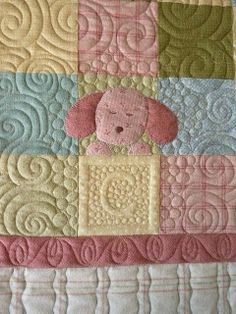 Sewing & Quilt Gallery: Sweet Flannel Baby Quilt.