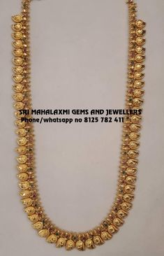 Sri Mahalaxmi Gems and Jewellers get the best finish in minimum. Visit for Resellers prices for best designs. Contact no 8125 782 411 04 September 2019 Gold Temple Jewellery, Gold Wedding Jewelry, Gold Jewelry Simple, Gold Jewellery Design, Pearl Necklace Designs, Gold Earrings Designs, Gold Mangalsutra Designs, Chains, Mango Mala