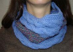 Free Loom Knit Infinity Scarf Pattern