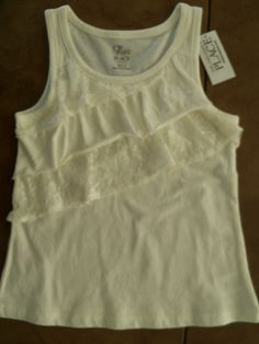 The Childrens Place Lace Ruffle Tank Top Girls X-Small 4 NWT Retails $14.95