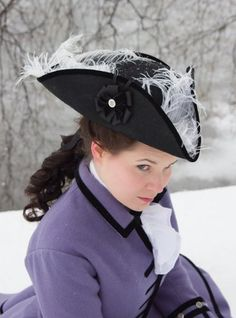 18th century headwear @Tracey Fox Lasko to go with the pirate costume.