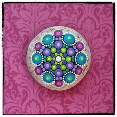 Jewel Drop Mandala Painted Stone Rubies and por ElspethMcLean, $36.00