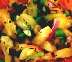 Love this--can be used with fish or chicken from the grill, or as a filling for tacos. Tropical Pineapple Salsa