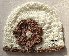 Jarní/podzimní čepička - smetanová/hnědá Beanie, Hats, Fashion, Moda, Hat, La Mode, Fasion, Beanies, Fashion Models