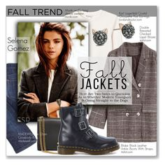 """""""Fall Jackets:  Selena Gomez"""" by jzanzig ❤ liked on Polyvore featuring Monki, Dr. Martens, Madewell, Karl Lagerfeld, selenagomez and falljackets"""