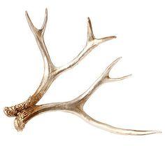 "NEW~Raz Imports~17.5"" Gold/Brown Deer Antler~Christmas Decor/Spray/Tree/Ornament"
