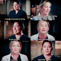 Arizona was such an ungrateful bitch that season. Callie could've just let her die, but no. Callie did what she knew was right and saved her life.