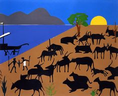 Cattle of the Sun God, by Romare Bearden. Ann and Sheldon Vogel