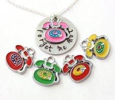 telephone charm necklace