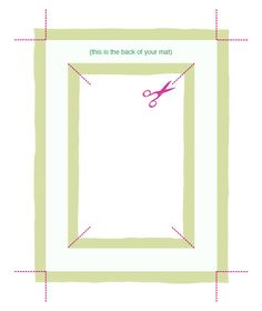 How to make a fabric picture frame mat
