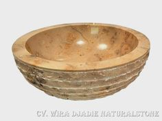 Sink Bowl Outside Alur Marmo Color : Brown Size: Ø 35 cm X H. 15 cm Ø 40 cm X H. 15 cm Ø 45 cm X H. 15 cm