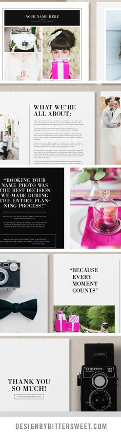 Create a unique magazine to guide your new soon to be brides. Professionally written text along with customizable sections give you a versatile package to deliver to your clients as a digital guide or as a beautifully printed 8.5″x 11″ magazine to show off your best work. Beautiful images by @annelimphoto