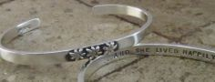 """""""And She Lived Happily Ever After"""" Sterling bracelet, 3-D flowers. Great for weddings, after divorce, starting new adventure. A fav."""