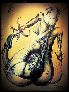Original art is pen on paper. Created between 1988 and Digital modifications applied in Nautilus, Original Art, My Arts, Skull, How To Apply, The Originals, Digital, Paper, Skulls