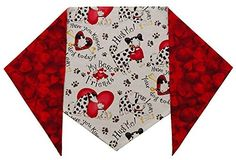 """Dog Valentine's Day Bandana (XS) Ties on 7""""-8"""" This 100% Cotton, two-sided Valentine's dog bandana lets your best friend know how much they Read  more http://dogpoundspot.com/dog-valentine-s-day-bandana-xs-ties-on-7-8/  Visit http://dogpoundspot.com for more dog review products"""