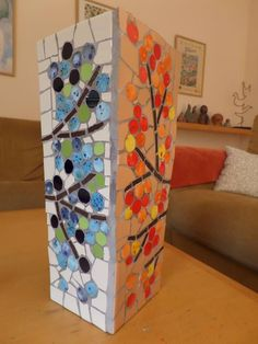 Mosaic vase - side no 3