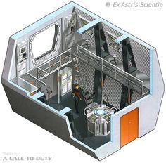 Nacelle control room - U.S.S. Enterprise NCC-1701 D