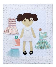 The original blanket with outfits that change. Cute Quilts, Boy Quilts, Girls Quilts, Felt Dolls, Paper Dolls, Diy Fairy Door, Paper Doll Template, Quilt Patterns, Doll Patterns