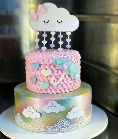 65 Idées Cupcakes Amor Fondant Sweets For 2019 - cupcake amor Torta Baby Shower, Cupcakes, Cake Cookies, Cupcake Cakes, Baby Cakes, Pretty Cakes, Beautiful Cakes, Raindrop Baby Shower, Cloud Party