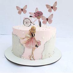 Baby Girl Birthday Cake, Butterfly Birthday Cakes, Candy Birthday Cakes, Beautiful Birthday Cakes, Butterfly Cakes, Birthday Cake Toppers, Unique Birthday Cakes, Creative Cake Decorating, Birthday Cake Decorating