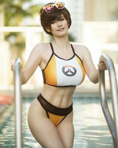 Tracer, Swimsuit Edition | Overwatch by Emily Aurelia