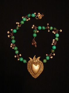 Milagro Heart Bronze- Lorena Angulo