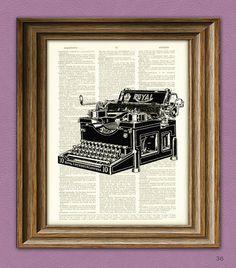 Vintage ROYAL TYPEWRITER beautifully upcycled by collageOrama, $6.99