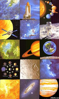 Space other people 39 s patterns outer space and spaces for Solar system fabric panel