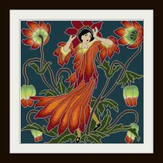 Anemone Flower Fairy adaptation Cross stitch pattern by Whoopicat, $6.00