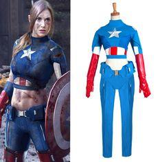 Custom Made Movie Captain America The Advengers Cosplay Costume For Halloween