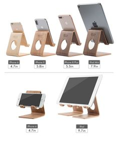 Amazon.com: Cell Phone Stand Desktop Wooden Mobile Phone Holder Cradle for iPhone Samsung Smartphone (B-Black Walnut): Cell Phones & Accessories Iphone Stand, Cell Phone Stand, Smartphone, Samsung, Phone Holder, Cell Phone Accessories, Desktop, Phones, Amazon