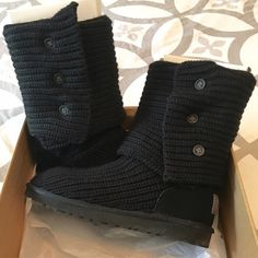 UGG Classic Black Cardy Boot Authentic UGG Australia Black Cardy boots in women's size 8. Wore these maybe twice but LOVED the buttons on these boots. Classic black UGGs and in fantastic condition! We live in a hot climate so I can't get much wear out of them. They need a new home where someone can enjoy them!❄️ UGG Shoes Winter & Rain Boots