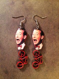 Pee-wee's Big Adventure Pee-wee Herman with Bike Earrings