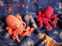 Crocheted by AmigurumisFanClub. Free pattern by Jaylee's Toy Box :  http://www.ravelry.com/patterns/library/amigurumi-octopus-5