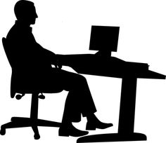 Free Image on Pixabay - Office, Man, Desk, Computer Foto Website, My Images, Free Images, Silhouette Images, Delphine, Cairo Egypt, Symbol Logo, Photoshop, Make A Donation