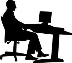 Free Image on Pixabay - Office, Man, Desk, Computer Foto Website, My Images, Free Images, Eroge, Silhouette Images, Delphine, Cairo Egypt, Symbol Logo, Photoshop