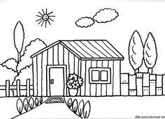 Dibujos De Casas Con Chimenea Para Colorear Dibujos Pinterest