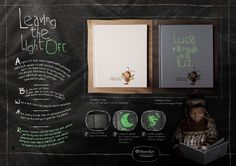 In order to teach little kids about the importance of saving energy, JWT & the peruvian electric company ENERSUR decided to create a book that only could be read in the dark, thus helping them lose the fear of darkness while becoming energy saving ambassadors.