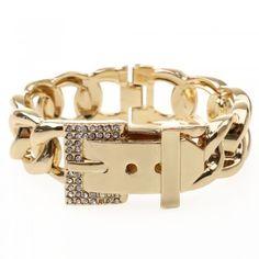 [$7.99] Bracelet Cuff Bangle Rhinestone Metal