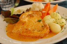 Lenguado con salsa de langosta