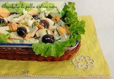 Insalata di pollo e olive nere