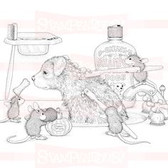 """(^_^) House Mouse - D-Skunk dog wash. 8.3"""" x 8.4"""" stampendous-dog-wash-house-mouse-cling-rubber-hmcr31-36315-p.jpg (800×800)"""