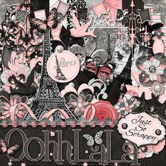 "Photo from album ""Ooh_La_La"" on Yandex. Digital Scrapbooking Freebies, Aesthetic Themes, Colorful Drawings, Paper Roses, Scrapbook Albums, Scrapbook Layouts, Design Thinking, Kit, Wall Collage"