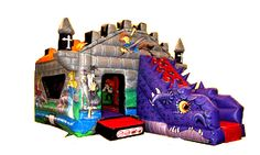 King Arthur's Camelot and Dragon Bouncy Castle with slide for Hire in Nottingham Knight Party, Dragon Knight, Bouncy Castle, King Arthur, Nottingham, Knights, Party Ideas, My Love, Artwork