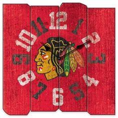 NHL Chicago Blackhawks Vintage Square Wall Clock.afflink