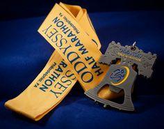 2012 Oddyssey Half Marathon Finisher Medal by TaniaGail, via Flickr Sports Medals, Virtual Run, Running Medals, Runners World, Marathons, Waiting, Awards, Bucket, Bling